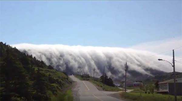 Водопад из тумана