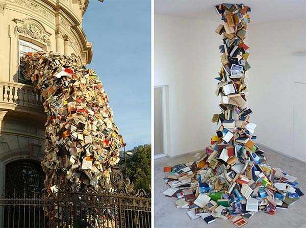 Книжные скульптуры Алисия Мартин