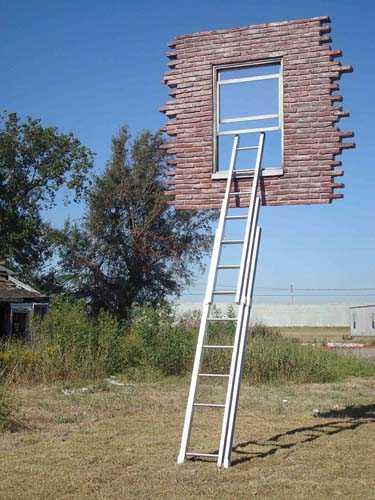 Окно с лестницей-Леандро Эрлих