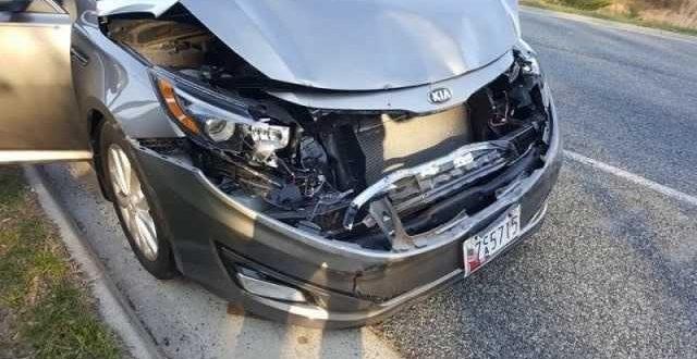 Столкновение Volvo и Kia