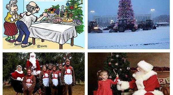 смешные новогодние картинки